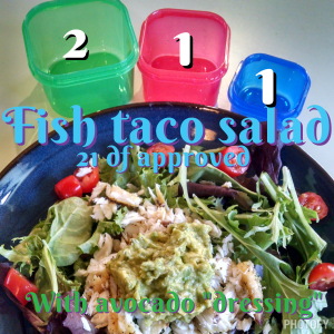 21 day fix fish taco salad