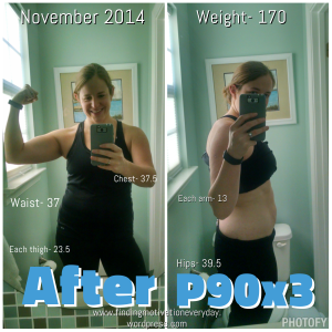 P90x3 results after 90 days