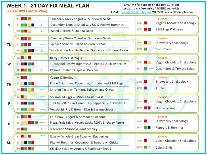 Ridiculous image with regard to 21 day fix printable meal planner