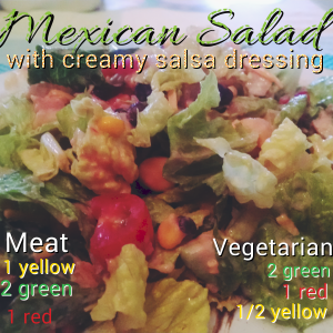 Mexican Salad with creamy salsa dressing