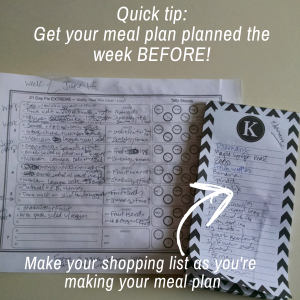 meal plan quick tip