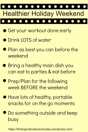 Tips for a healthier holiday weekend