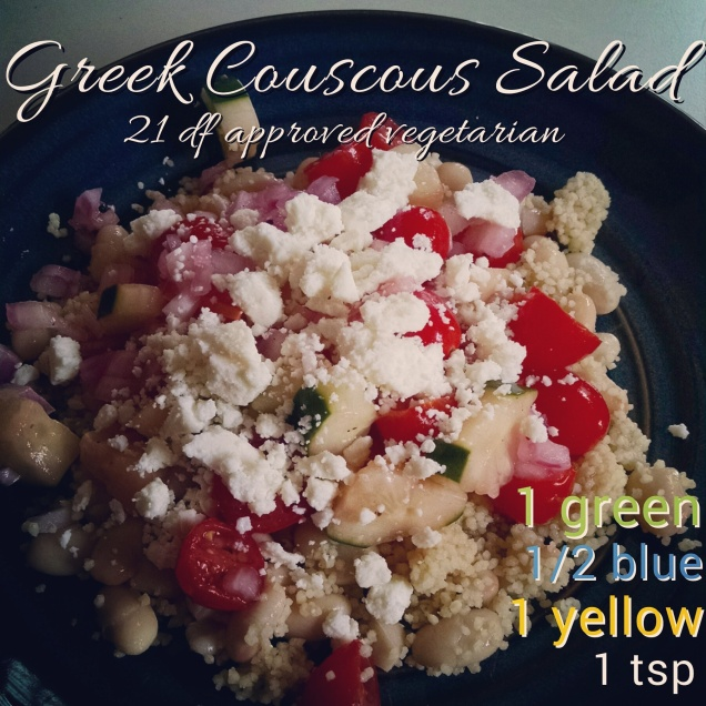 Greek couscous salad clean lunch