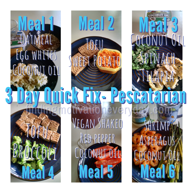 3 Day Quick Fix for Pescatarians