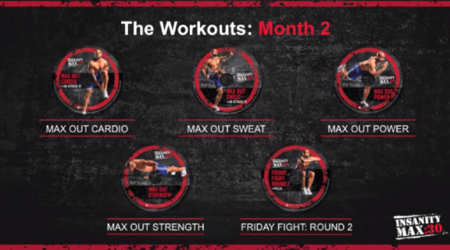 Insanity Max 30 Month 2 Workouts