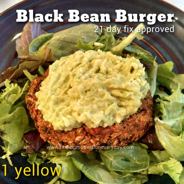 Black Bean Burger 21 day fix approved